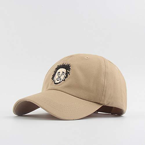 Interesante Gorras Ajustables con Bordado de Cabeza Europea y Americana, Gorra de béisbol de Estilo Hip-Hop, Sombreros de Moda para Hombres y Mujeres