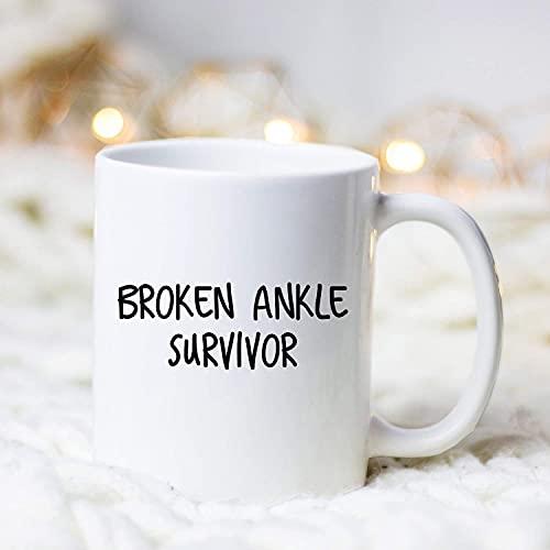 Tobillo roto sobreviviente/taza/regalo de la cirugía posterior al pie/regalo de la cirugía del tobillo/elenco del tobillo/obsequio bien pronto/regalo del sobreviviente del tobillo roto