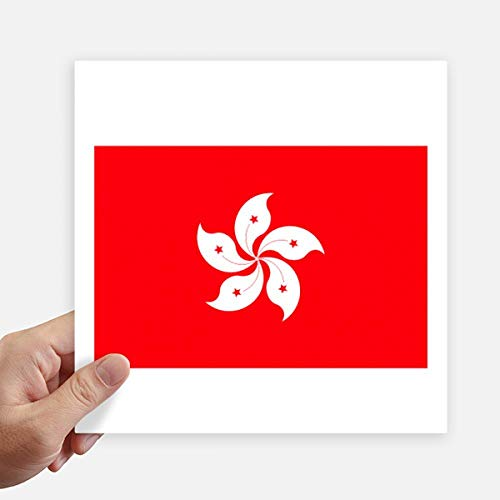 DIYthinker China Hong Kong regionale vlag Square Stickers 20Cm muur koffer Laptop Motobike Decal 4 Stks