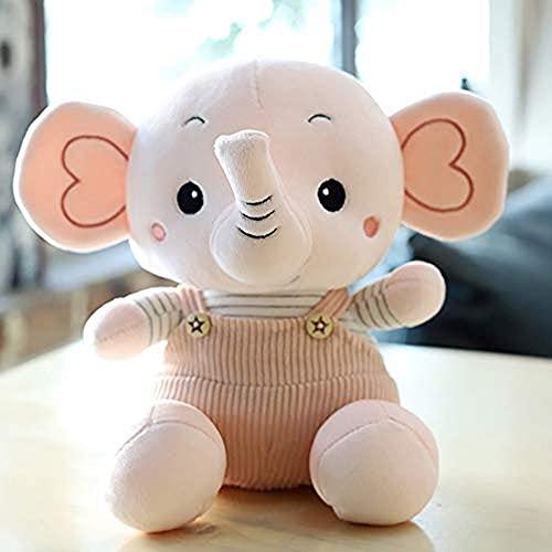 wangYUEQ La Linda Sala de muñecas Elefantes con Juguetes de Peluche, con Almohadas de Cama 32 cm (Color : Rosado, Size : 23CM)