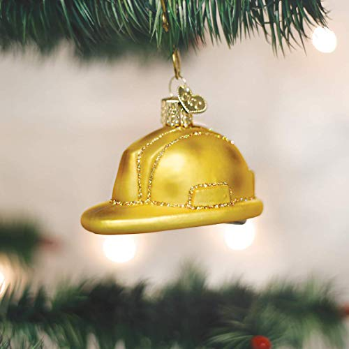 Old World Christmas Ornaments: Construction Helmet Glass Blown Ornaments for Christmas Tree (32226)
