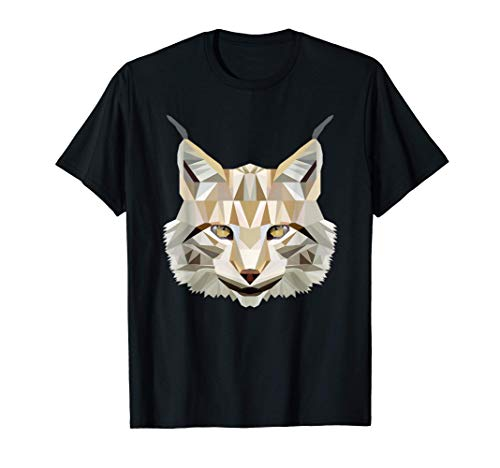 Wilder Luchs Polygon T-Shirt
