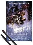 1art1 Star Wars Póster (91x61 cm) Episodio V, El Imperio Contraataca, Cartel De Cine Y 1 Lote De 2 Varillas Negras
