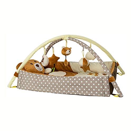 Babyspielmatten Spielmatte & Aktivitätsstudio Babyspielmatten Teppich Kinderzimmer Weiche Baumwolle Laufmatte Bodenteppich Spielmatte für Baby Gym Mat,Brown