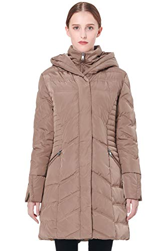 Orolay Women's Thickened Coat Puffer Down Jacket Khaki M