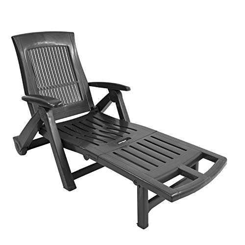 TRABELLA Anthracite Potenza Lounger