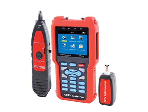 Emisor y comprobador de señal de audio video CCTV con detección de cables y prueba RS485