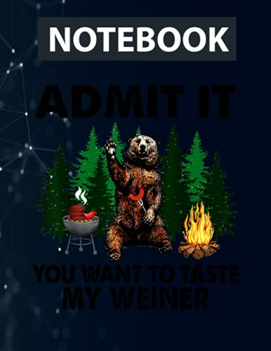 Funny Camping Admit It You Want to Taste My Weiner Notebook / 130 pages / US Letter Size