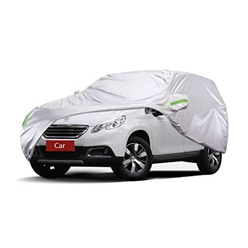 Couverture de voiture Compatible avec Peugeot 2008 Couverture de voiture SUV épais Oxford Tissu Protection solaire Protection contre la pluie Couverture chaude Couverture de voiture (Size : 2013)
