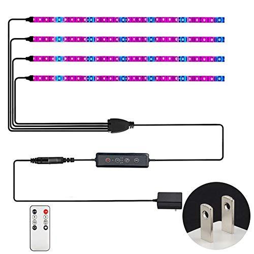 16.4ft / 5M SMD 5050 Impermeable LED Planta Crecer Tiras de luz Cuerda Luces con Control Remoto y Adaptador de 12V para Acuario Invernadero Hidropónico Planta Flores