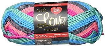 RED HEART E400B-1985 With Love yarn Leisure Stripe