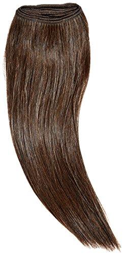 chear européenne soyeuse droite trame Extension de cheveux humains avec de mélange tissage marron foncé numéro 4, Taille M 35,6 cm