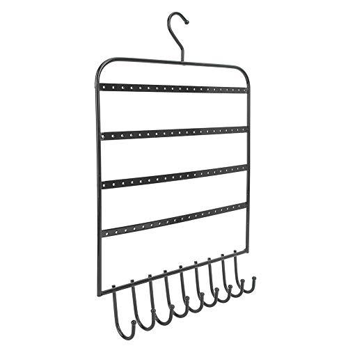 needlid Organizador de la joyería, Pendientes de la Pulsera del Estante del Tenedor de la joyería Que cuelgan el Metal para la Llave para los Anillos(Negro)