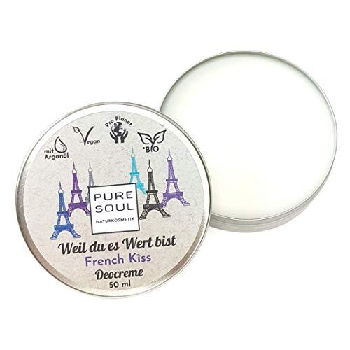 Naturkosmetik | Vegan Deodorant | Deocreme 50 ml | Lavendel | ohne Aluminiumsalze | Plastikfrei | Natürliche Wirkung | Cremedeo | Festes Deo | French Kiss