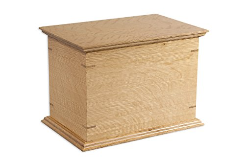 Craftsman Funeral Urn in Quarter-Sawn White Oak - Handcrafted in Wisconsin From Solid Wood - Cremation Urn For Human Ashes & Cremated Remains - Burial Urn - Decorative Urn - Wood Urn
