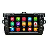 NVGOTEV Car Radio DVD Player Navigation Fits for Toyota Corolla 2008-2011 Auto Audio GPS Bluetooth Multimedia Stereo