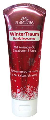 PLANTACOS Handpflegecreme WinterTraum / Handcreme für sehr trockene Hände / Handcreme rissige Hände / hochwertiges Korianderöl + Sheabutter + Urea / Kinder Handcreme / kleine Geschenke / 50 ml