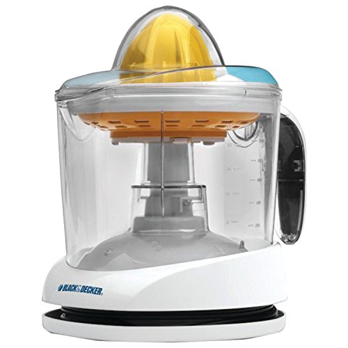 Black+decker Cj625 30-watt 34-ounce Citrus Juicer, White- Make Easily Squeezed, Fresh Juice + E-book for You