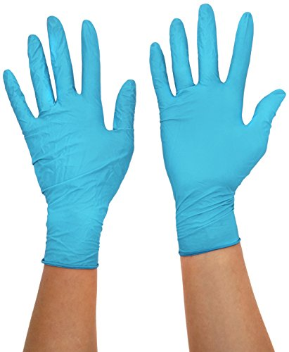 Ansell TouchNTuff 92-670 Guantes de Nitrilo, Resistentes a Productos Químicos, Sector Industrial, Azul, Tamaño M (100 Guantes)