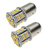 12V-24V車用 S25 ダブル球 アンバー BAY15D P21/5W LEDバルブ汎用 超高輝度 54連SMD ウインカー ランプ コーナーランプ(2個セット)