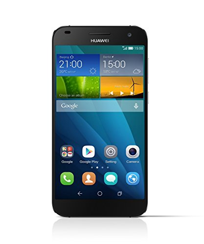 Huawei Ascend G7 Smartphone (13,97 cm (5,5 Zoll) IPS-Display, 13 Megapixel Kamera, 16 GB Interner Speicher, Android 4.4) schwarz- grau