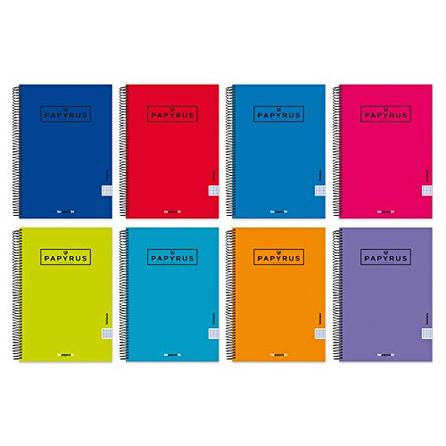 Unipapel 98443097. Pack de 5 Cuadernos con Espiral y Tapa Dura, Pauta...