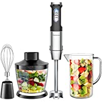 Elechomes 4-in-1 Hand Immersion Blender with 800W Powerful Motor