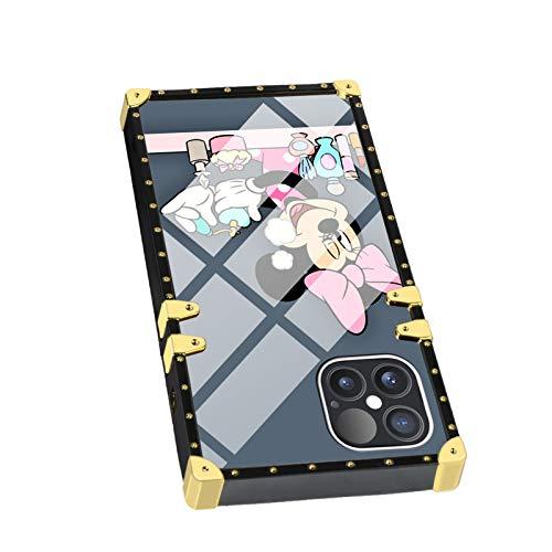 DISNEY COLLECTION Funda cuadrada para iPhone 12 Pro Max con diseño de Minnie Mouse de Disney