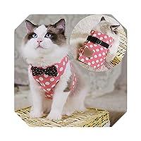 S/M/Lペットチェストストラップキャットドッグハーネスリーシュファッション子猫子犬ベストハーネスリードペット服 -C-S 30CM