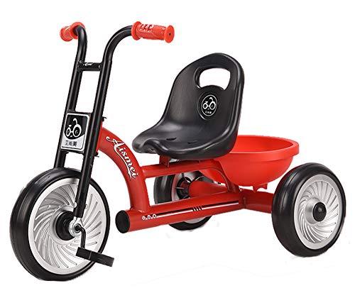 Tricycle Pour Enfants, Poussette Multifonctionnelle Légère Avec Roue En Mousse Gonflable Eva Adaptée Pour Se Garer Route De Gravier Voyage 1 à 6 Ans Charge De Bébé 50 Kg