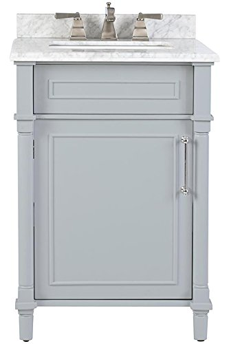 "Home Decorators Collection Aberdeen 24"" Single Bath Vanity, 34.5"" Hx24 Wx20 D, Dove Grey"
