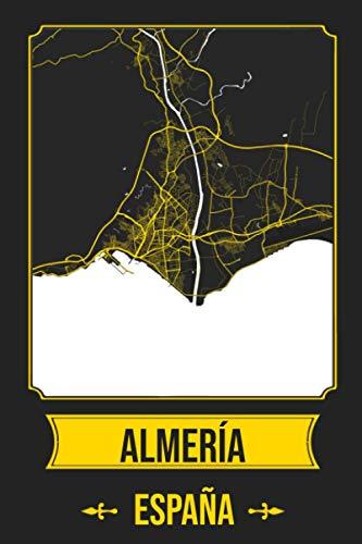ALMERIA España Cuaderno: Squareious de la Ciudad de ALMERIA, Hoja Forrada, Diario 200 PÁGINAS, 6x9
