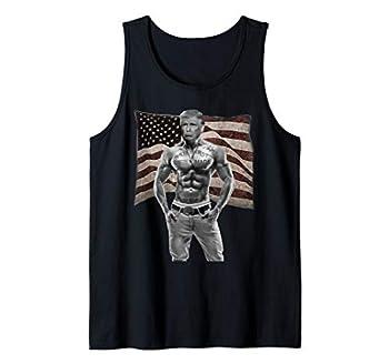 Gangster Pro Donald Trump Tattoo Republican American Flag v2 Tank Top