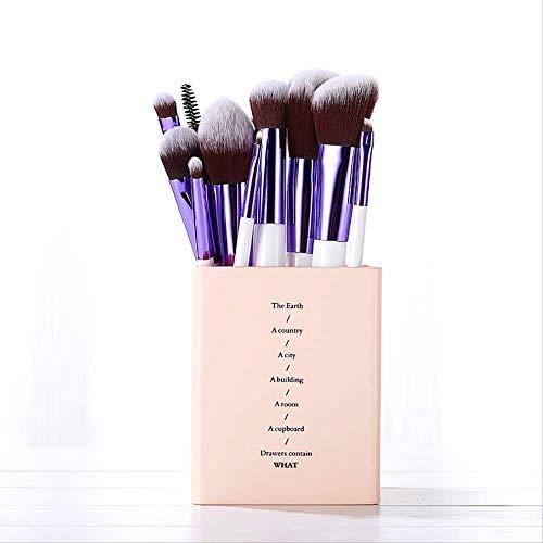 Set De Maquillage Brosse 11 Pièces Outil De Maquillage Charbon De Bambou Brosse X-031 Manche En Bois Blanc