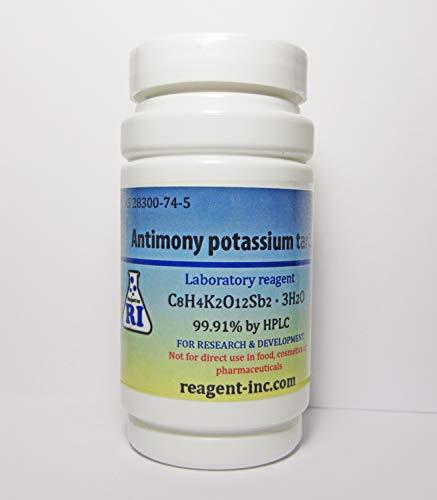 Antimony Potassium Tartrate, 99.91%, Analytical Reagent (ACS), 400 gr