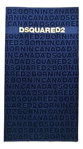 DSquared Towel D7P002450.300UN - Toalla de playa de algodón, color azul