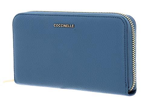 Coccinelle Metallic Soft Zip Around Wallet L Denim