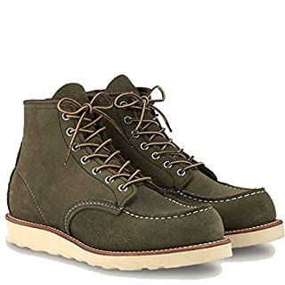 "Red Wing Heritage Men's 6"" Classic Classic Moc Toe Boot, Loden Abilene, 10.5 M US (B083X9SRW5) 