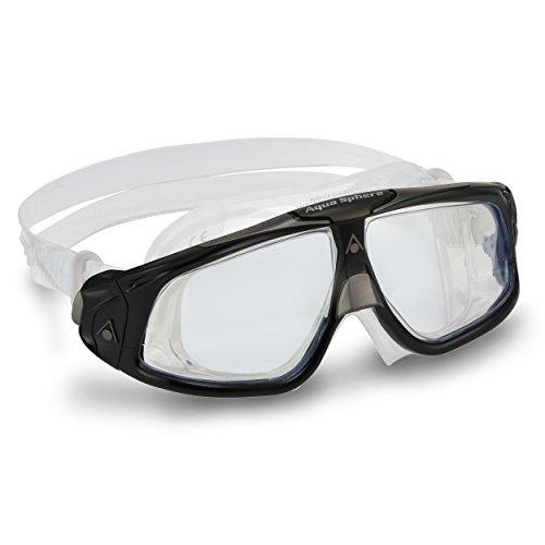 Aquasphere Seal 2.0 Gafas de natación, Unisex, Negro y Gris/Lente Transparente, Talla única