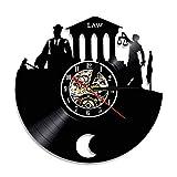 LKJHGU Reloj de Pared de Vinilo Verdad para oficinas y Tribunales judiciales Escala judicial Modelo de Disco de Vinilo