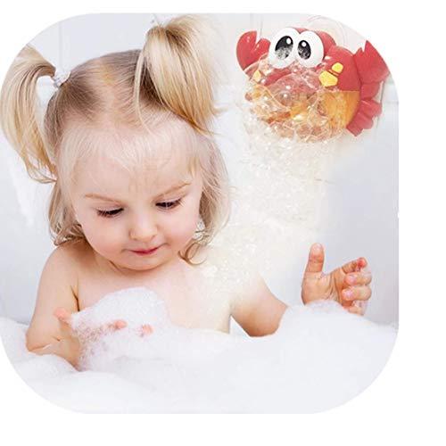 Happy Event kawaii multicolore macchina per bolle di sapone | Granchio Bubble Maker automatico ventilatore | 12Musica Song | Bagno Giocattolo per bambini | paperella per vasca da bagno