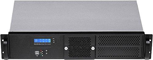 "PLINKUSA RACKBUY 2U(PCI-E 16x Riser Card)(Fan LCD) (2x5.25 + 2x3.5 + 4x2.5 HDD Bay) (9.84"" Deep) (Mini ITX) (Rackmount Chassis) (No Rail, No System and Case Only) ITX-G2250_2U-Express16X"