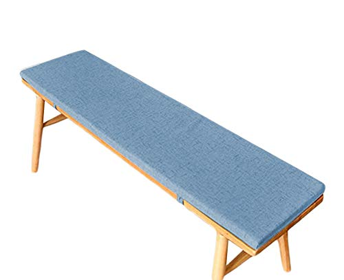 jHuanic Bench Cushion Pad Mat Garden Swing Pad Outdoor Long Chair Mat Thick Shoe Rack Cushion Indoor Dining Pad for 2 3 Seaters (Dark blue,35x120x5cm)