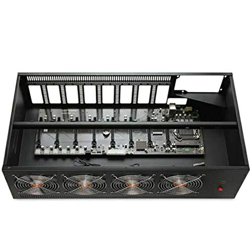8 GPU Miner Mining Machine System for Mining ETH Ethereum,GPU Miner Including Motherboard, CPU, SSD, RAM, PSU, Case with Cooling Fans