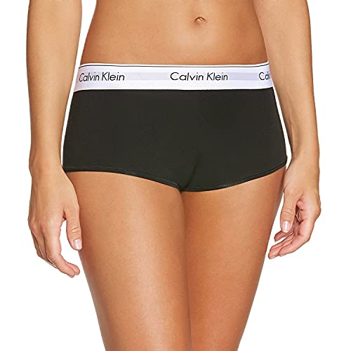 Calvin Klein Damen MODERN Cotton-Short Panties, Schwarz (Black 001), L