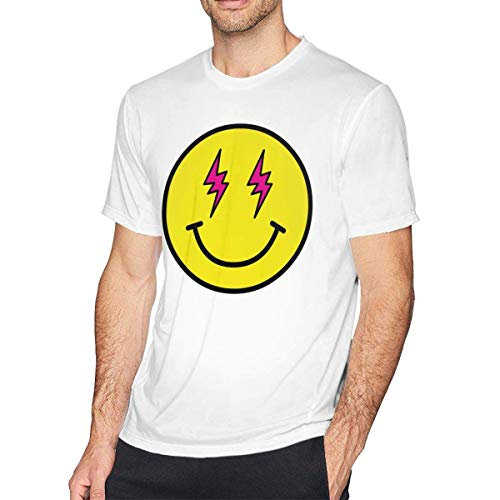 fghjfgdjhfd Camiseta de Manga Corta para Hombre,Energia-j-Balvin Fashion Mens tee/T-Shirt for Teenager White Dry-Fit Novelty Funny Cool Casual Tops