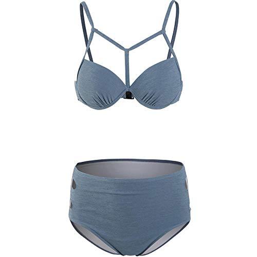 GREQ Bikini de una Pieza para Mujer Costume da bagno Donna t