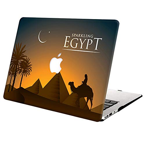 Hard Case Compatible with MacBook Pro Retina 15 inch (Model: A1398,Release 2015 - end 2012), AJYX Plastic Hard Shell Cover for Older Version MacBook Pro 15 with Retina Display - Sparkling Egypt