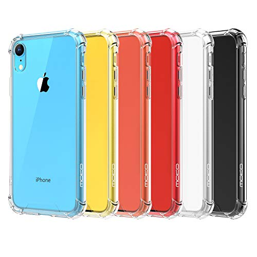 MoKo Cover Compatible for iPhone XR Case, Crystal Clear Reinforced Corners TPU Bumper + Anti-Scratch Hybrid Rugged Transparent Hard Panel Cover Fit with Apple iPhone XR 6.1 inch 2018 - Crystal Clear