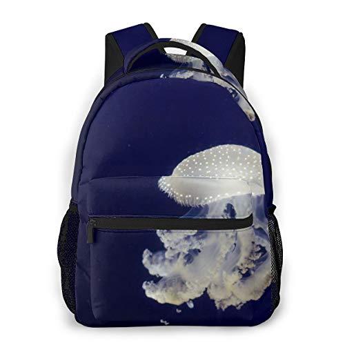 YANGPI Fashion Unisex Backpack White Blue Floral Table Lamp Bookbag Lightweight Laptop Bag for...